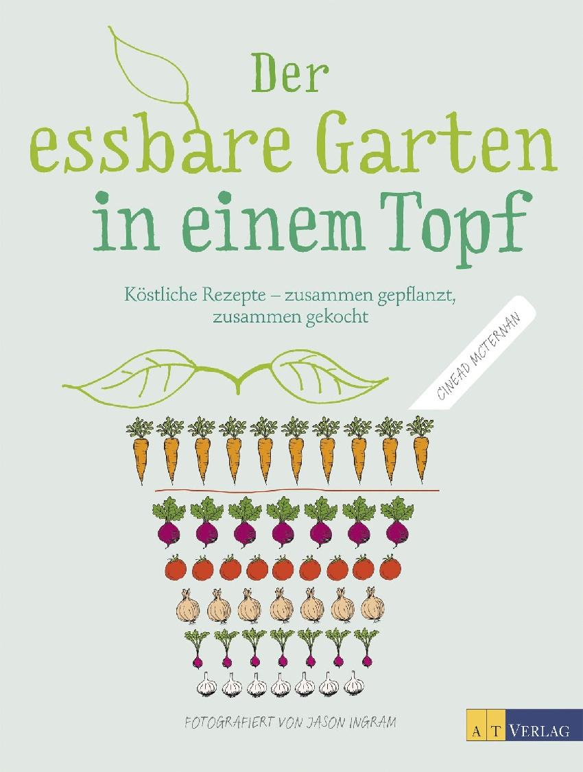Der essbare Garten in einem Topf